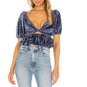 Free People Yours Truly Velvet Top. S